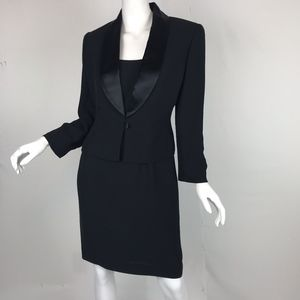 Jones New York Tuxedo Style Jacket and Dress 6